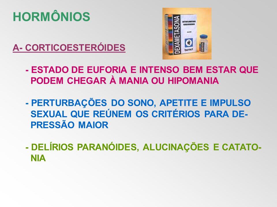 HORMÔNIOS A- CORTICOESTERÓIDES