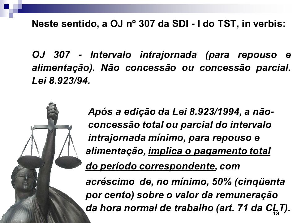 Neste sentido, a OJ nº 307 da SDI - I do TST, in verbis: