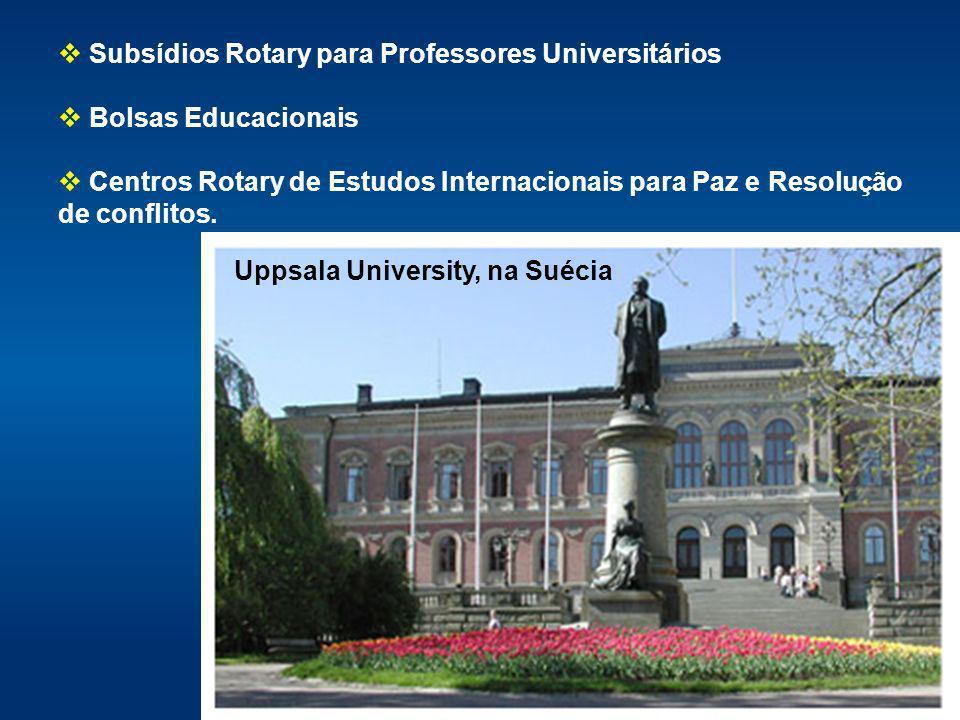 Subsídios Rotary para Professores Universitários