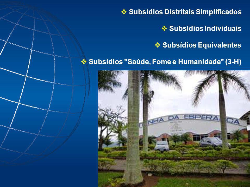 Subsídios Distritais Simplificados