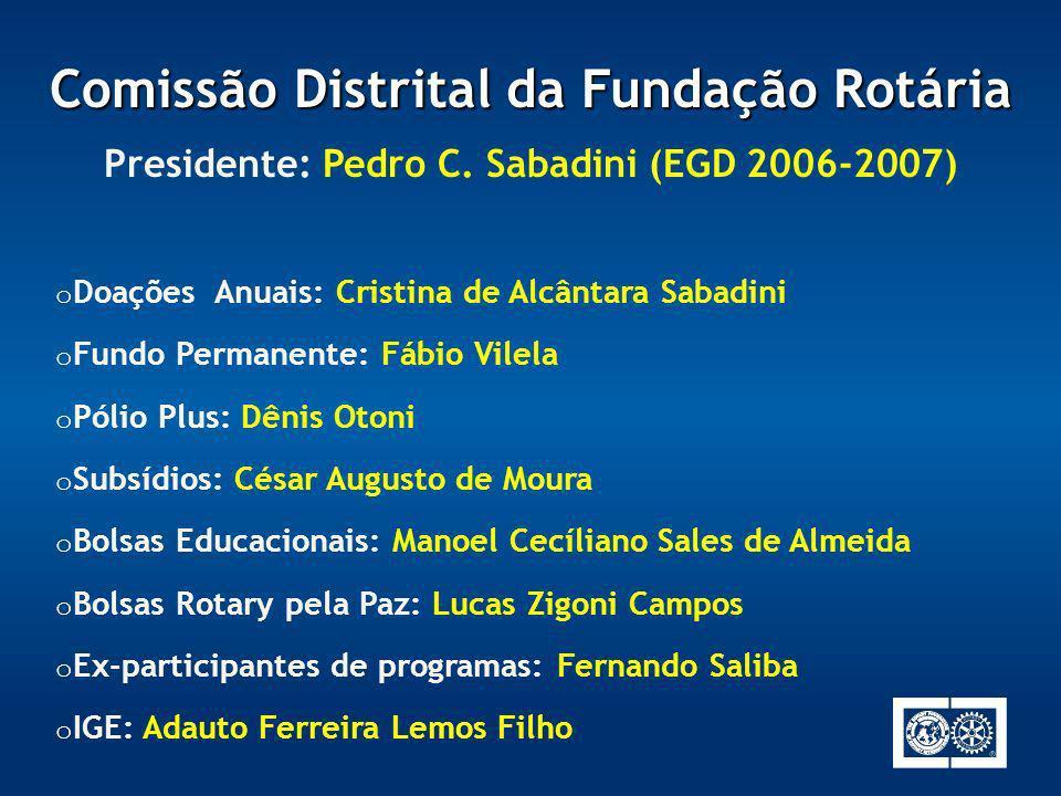 Comissão Distrital da Fundação Rotária
