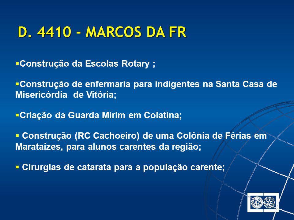 D. 4410 - MARCOS DA FR Construção da Escolas Rotary ;