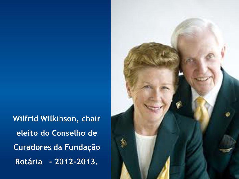 Wilfrid Wilkinson, chair eleito do Conselho de Curadores da Fundação Rotária - 2012-2013.