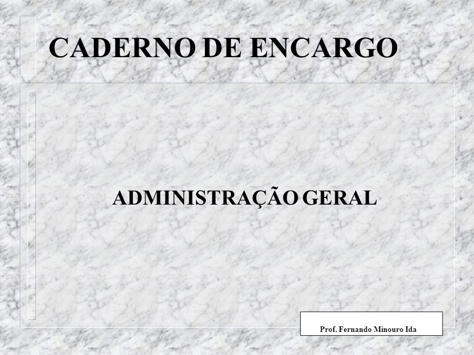 Prof. Fernando Minouro Ida