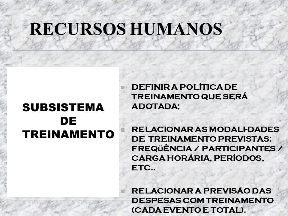 SUBSISTEMA DE TREINAMENTO