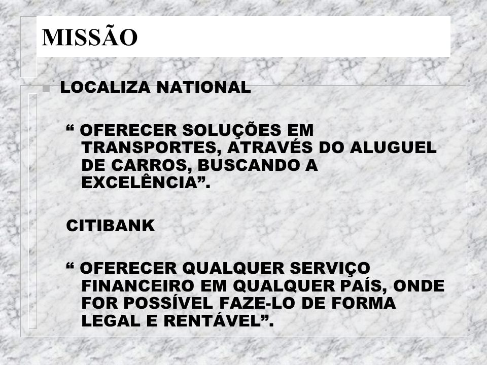 MISSÃO LOCALIZA NATIONAL