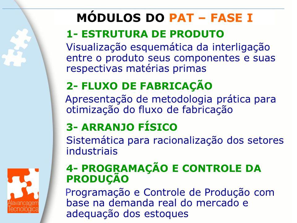 MÓDULOS DO PAT – FASE I 1- ESTRUTURA DE PRODUTO