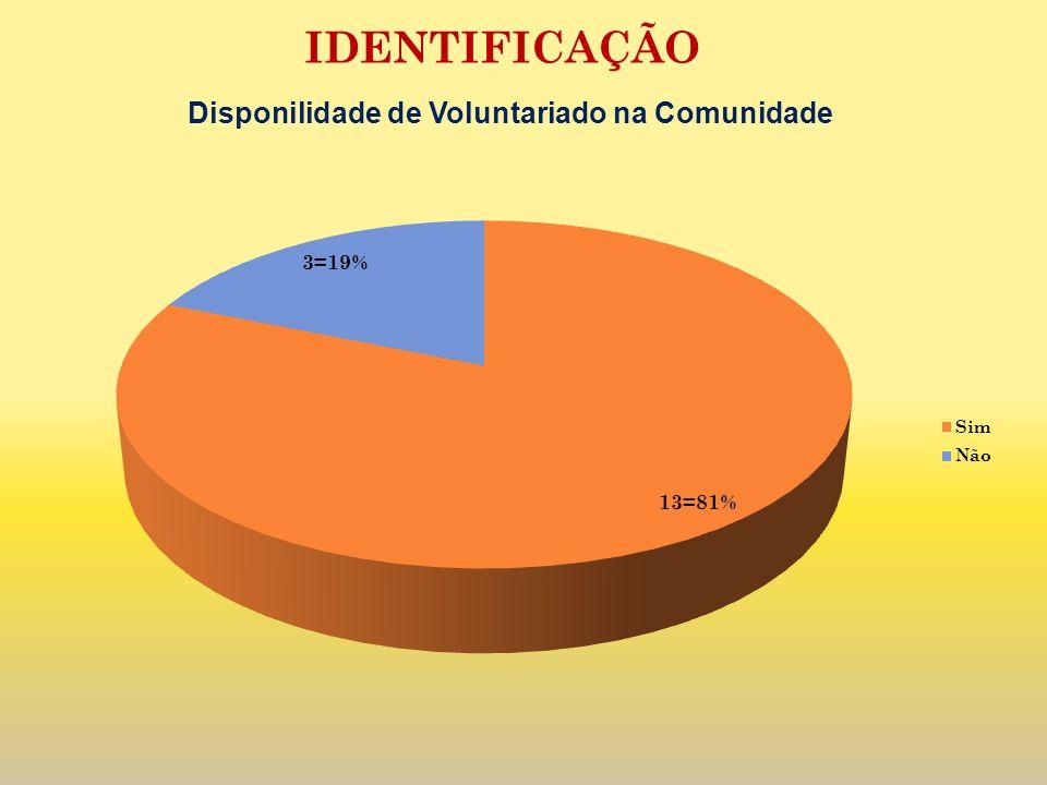 Disponilidade de Voluntariado na Comunidade