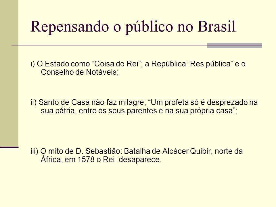 Repensando o público no Brasil