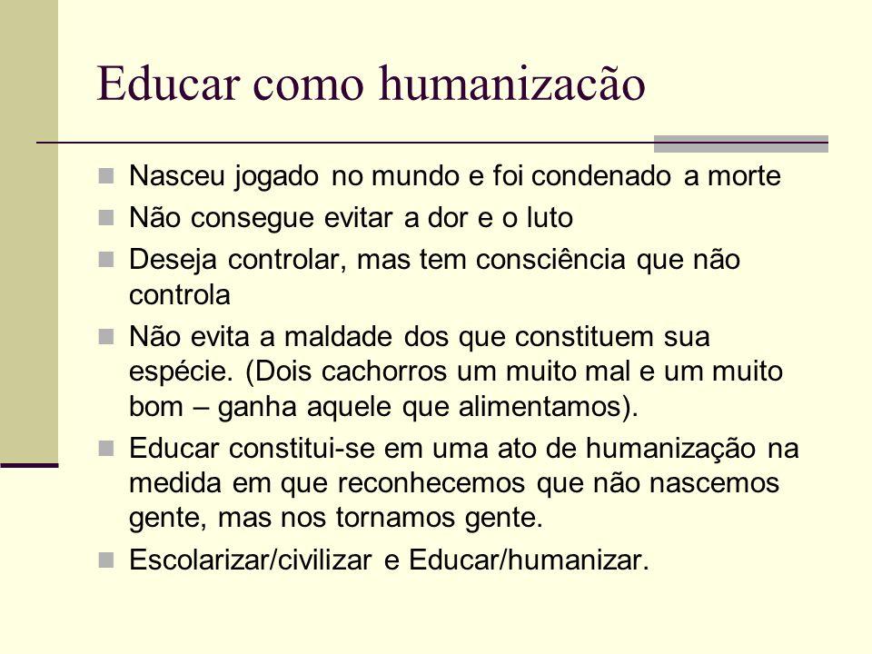 Educar como humanizacão