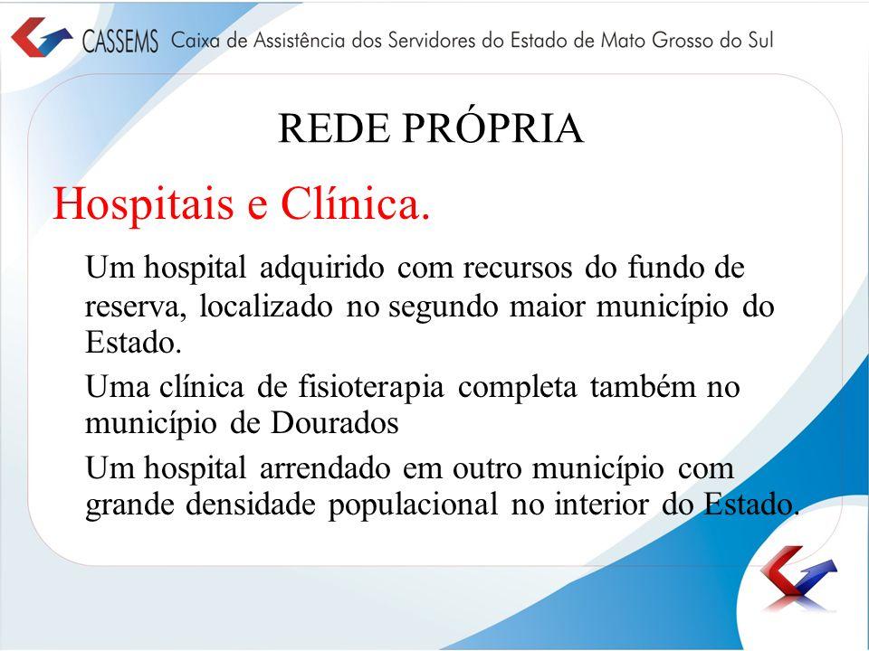 Hospitais e Clínica. REDE PRÓPRIA
