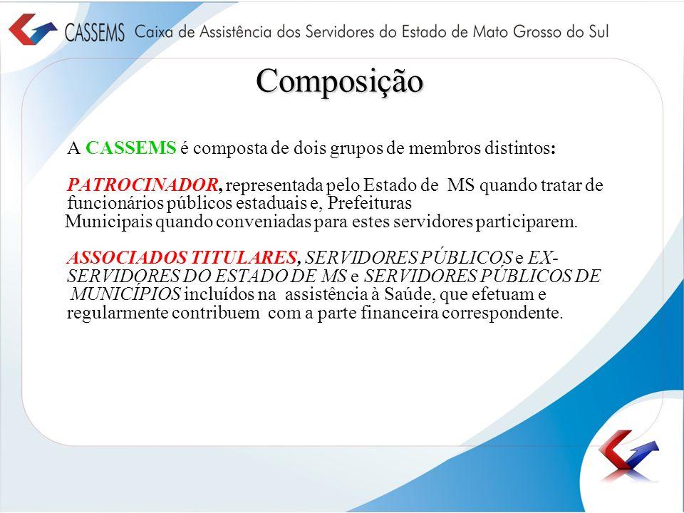 Composição A CASSEMS é composta de dois grupos de membros distintos: