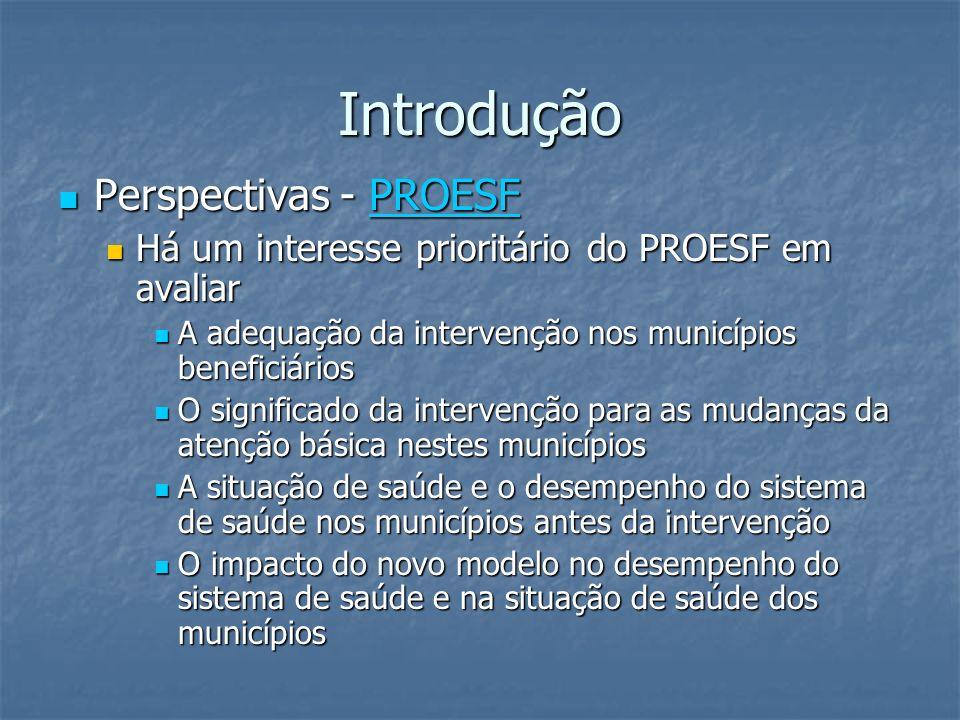 Introdução Perspectivas - PROESF