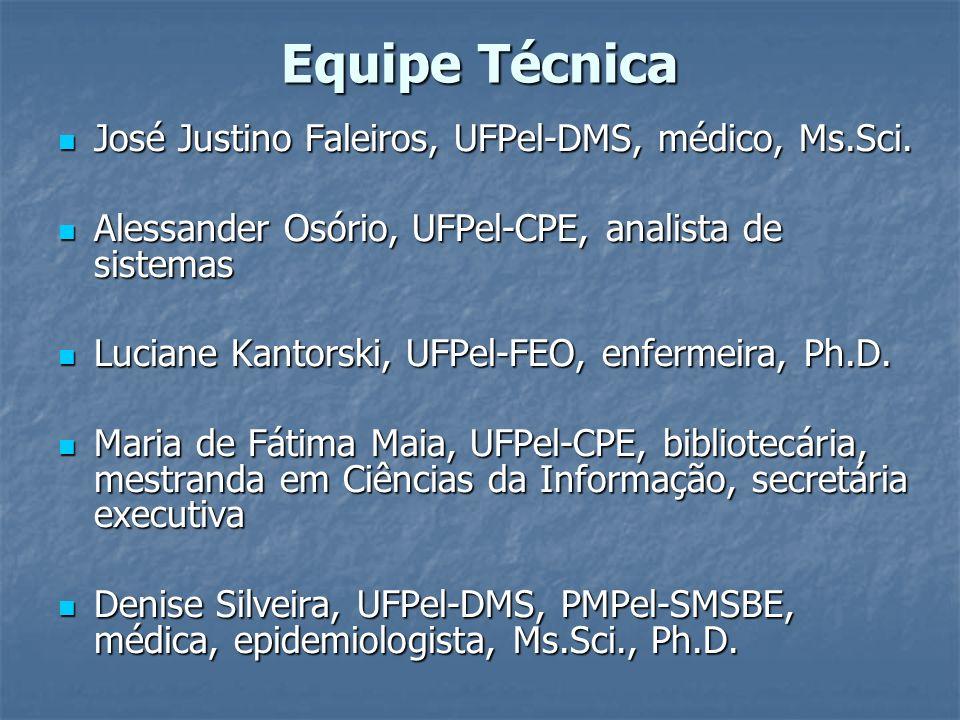 Equipe Técnica José Justino Faleiros, UFPel-DMS, médico, Ms.Sci.