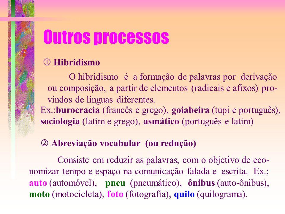 Outros processos  Hibridismo