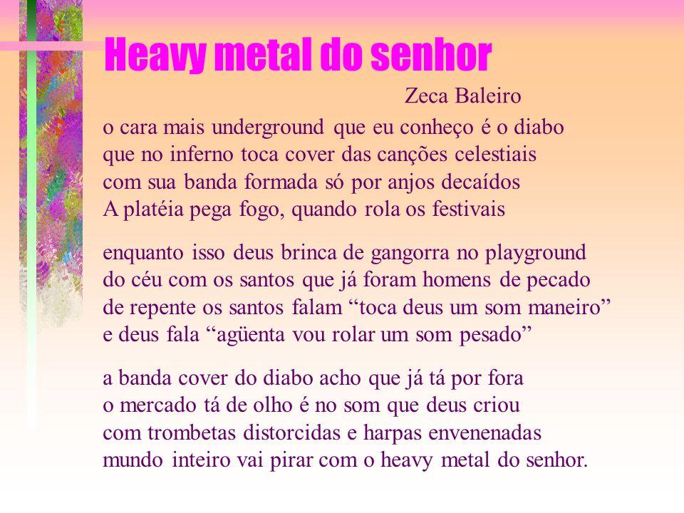 Heavy metal do senhor Zeca Baleiro
