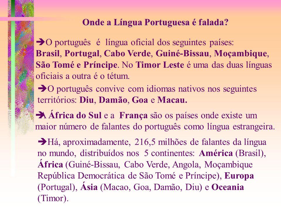 Onde a Língua Portuguesa é falada
