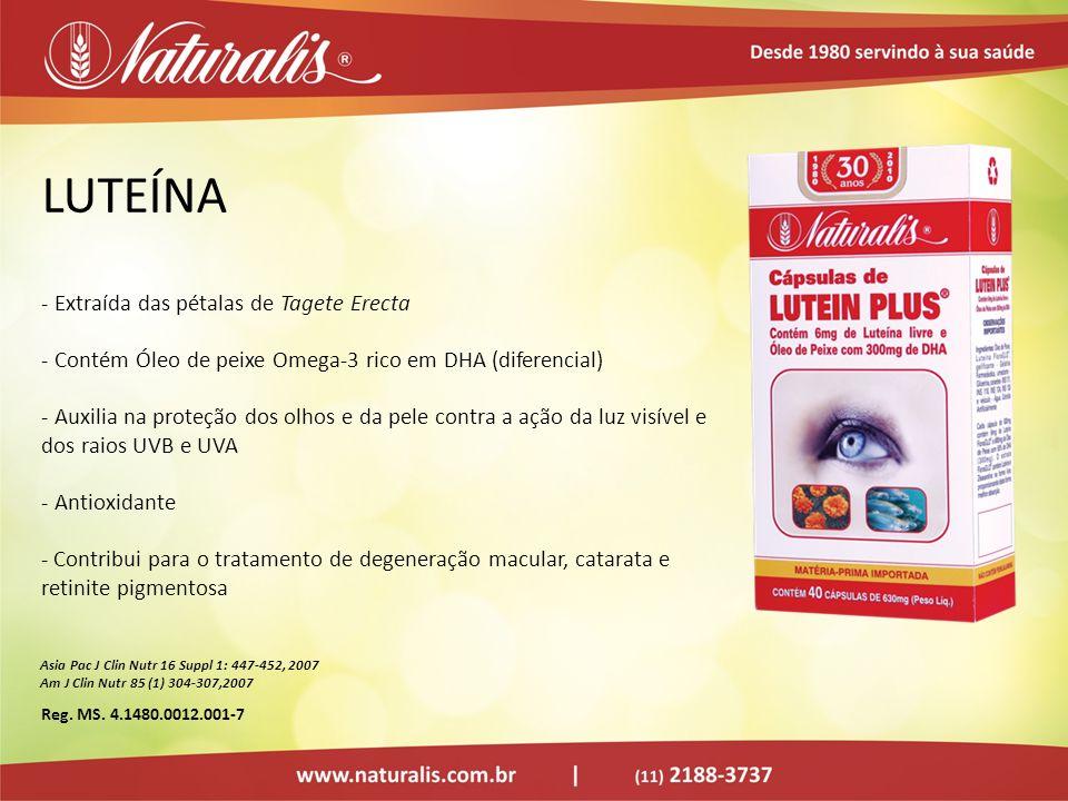 LUTEÍNA Extraída das pétalas de Tagete Erecta