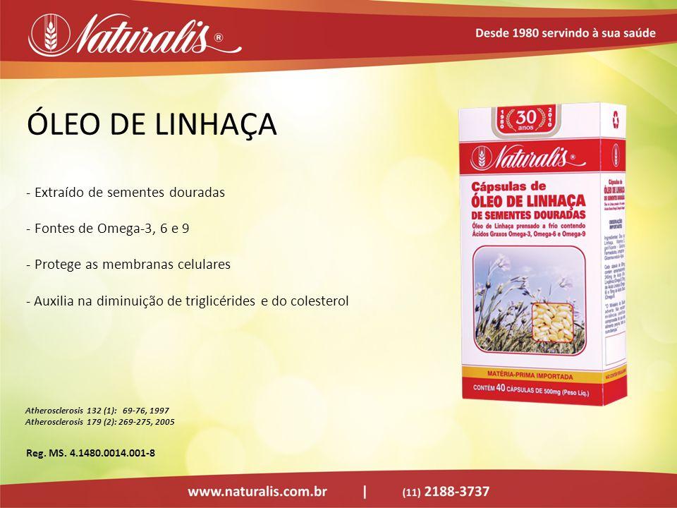 ÓLEO DE LINHAÇA Extraído de sementes douradas Fontes de Omega-3, 6 e 9