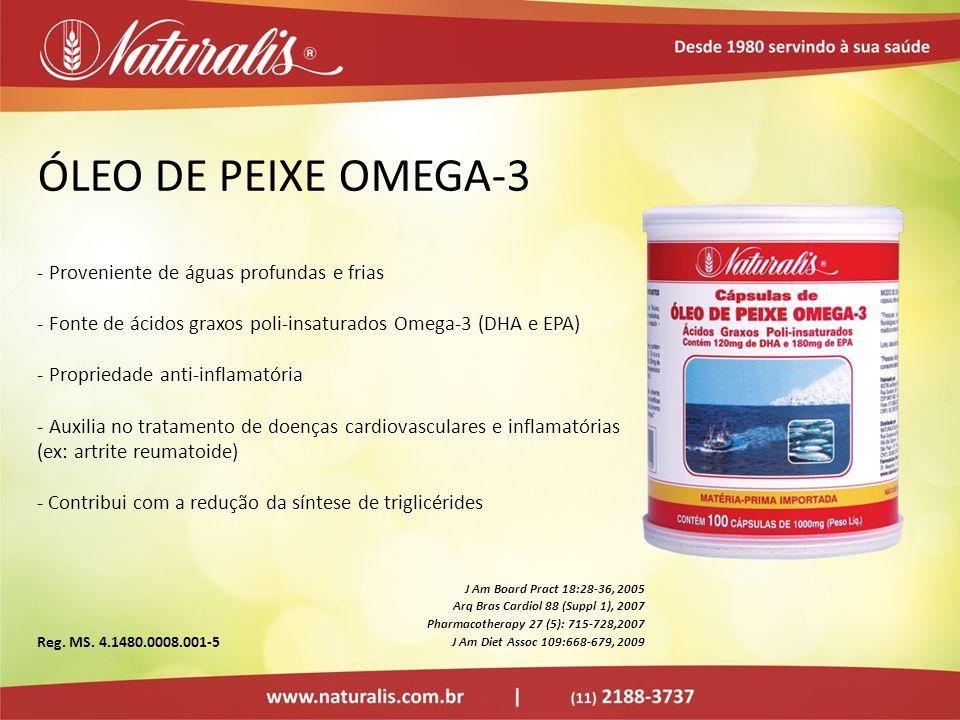 ÓLEO DE PEIXE OMEGA-3 Proveniente de águas profundas e frias