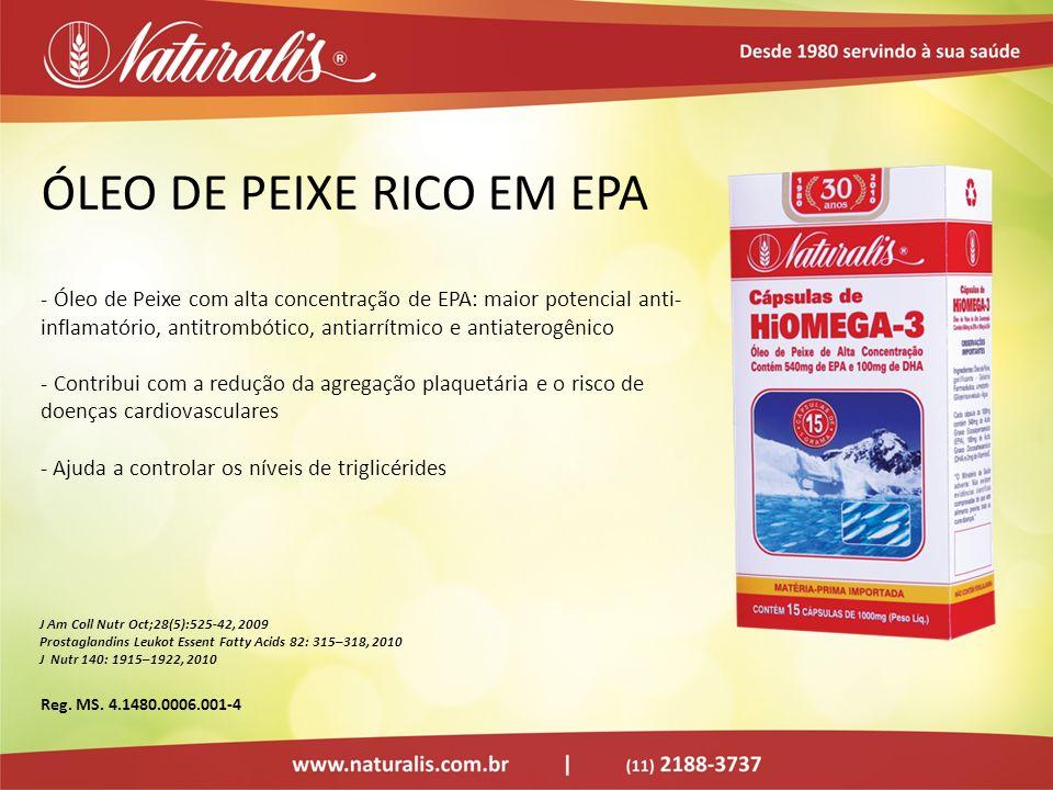 ÓLEO DE PEIXE RICO EM EPA