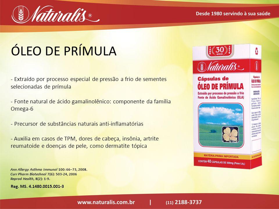 ÓLEO DE PRÍMULA Extraído por processo especial de pressão a frio de sementes selecionadas de prímula.