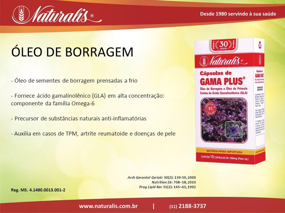 ÓLEO DE BORRAGEM Óleo de sementes de borragem prensadas a frio