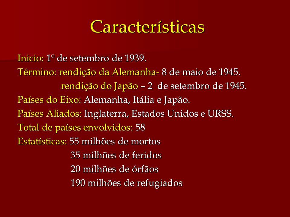 Características Inicio: 1º de setembro de 1939.
