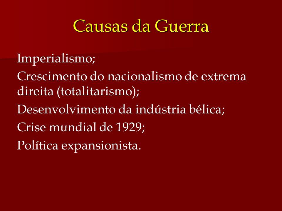 Causas da Guerra Imperialismo;