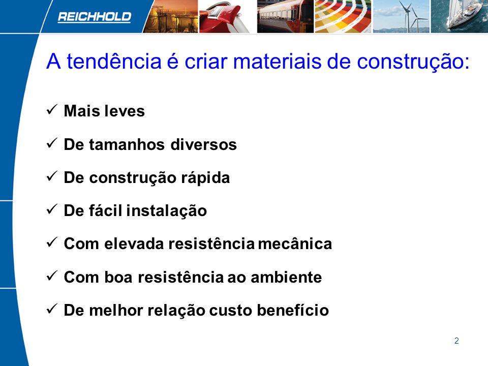 A tendência é criar materiais de construção: