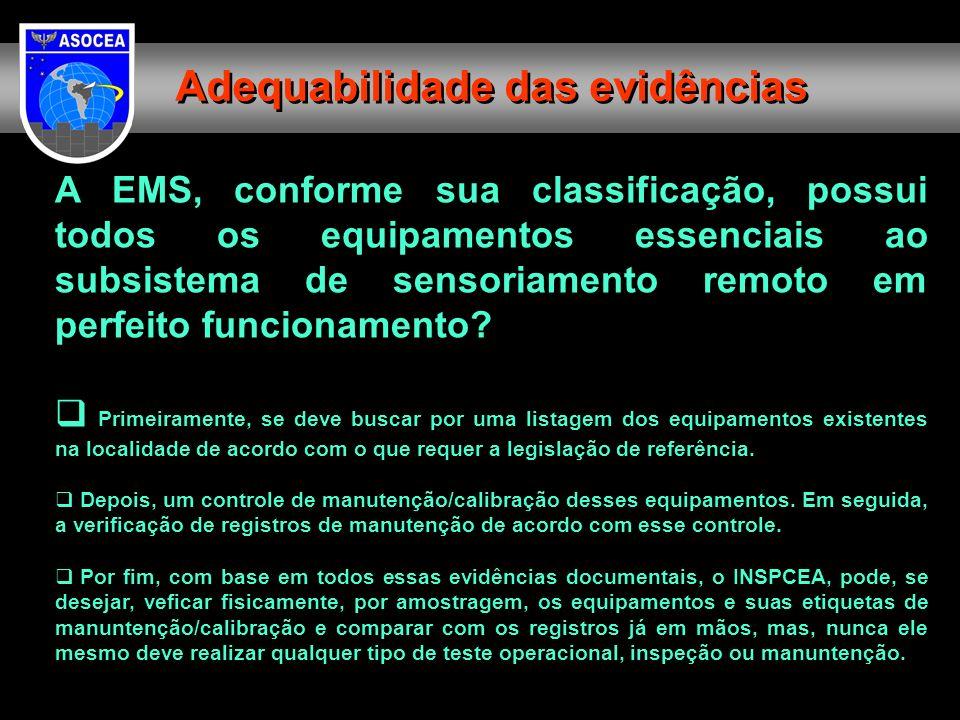 Adequabilidade das evidências