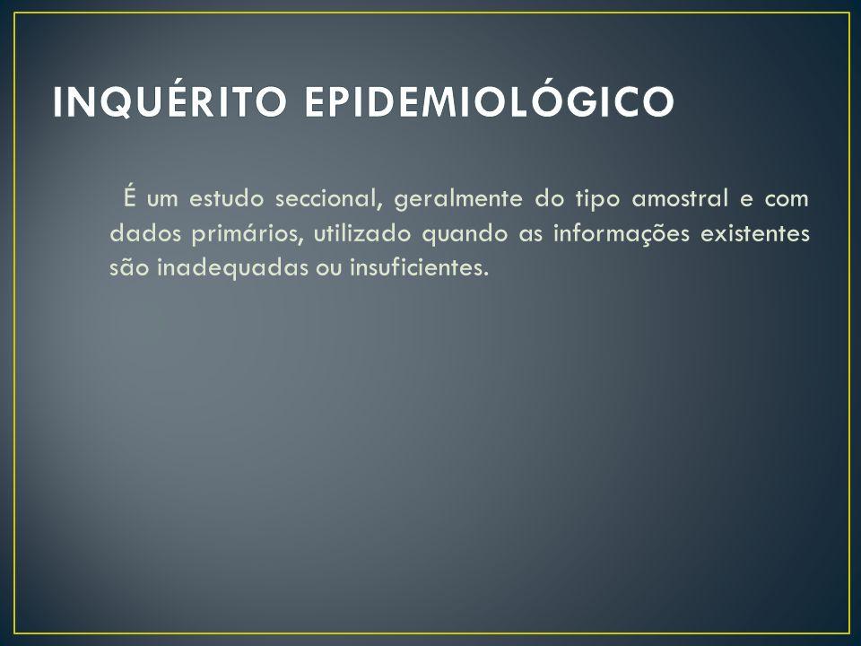 INQUÉRITO EPIDEMIOLÓGICO