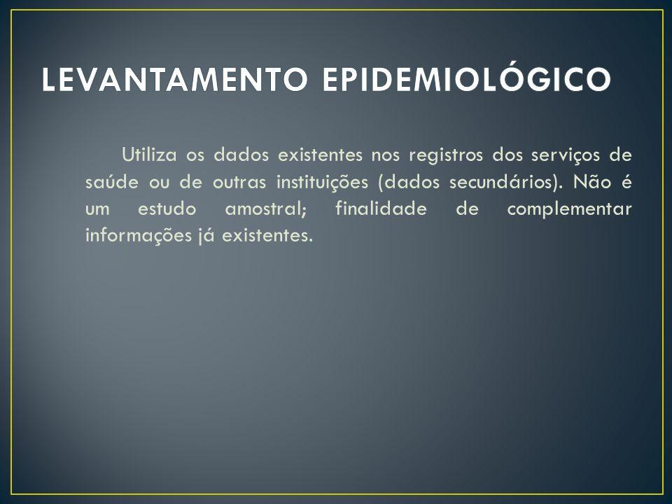LEVANTAMENTO EPIDEMIOLÓGICO