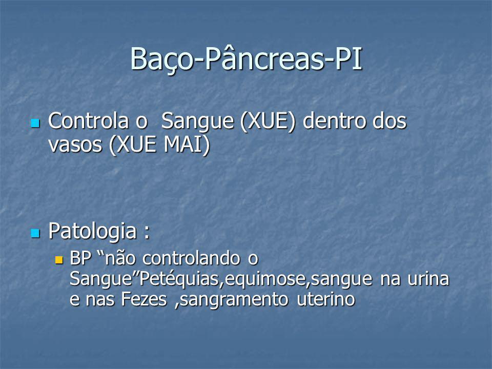 Baço-Pâncreas-PI Controla o Sangue (XUE) dentro dos vasos (XUE MAI)
