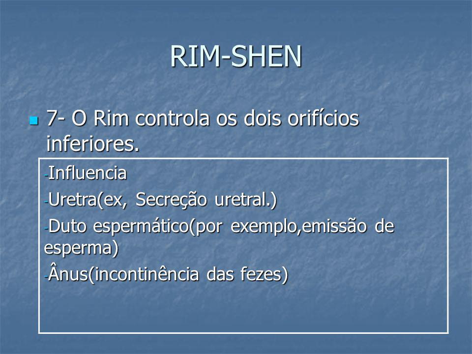 RIM-SHEN 7- O Rim controla os dois orifícios inferiores. Influencia