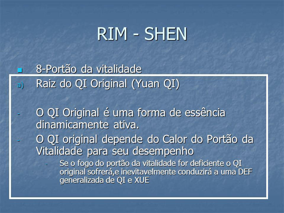 RIM - SHEN 8-Portão da vitalidade Raiz do QI Original (Yuan QI)