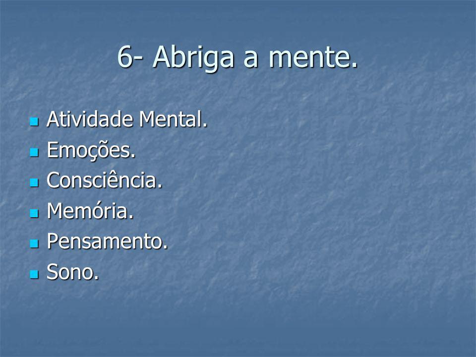 6- Abriga a mente. Atividade Mental. Emoções. Consciência. Memória.