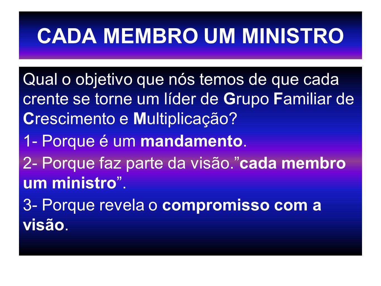 CADA MEMBRO UM MINISTRO