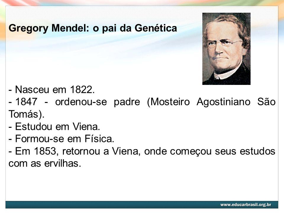 Gregory Mendel: o pai da Genética