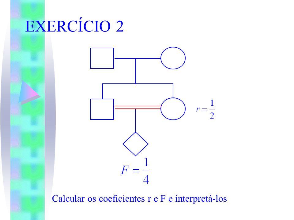 EXERCÍCIO 2 Calcular os coeficientes r e F e interpretá-los