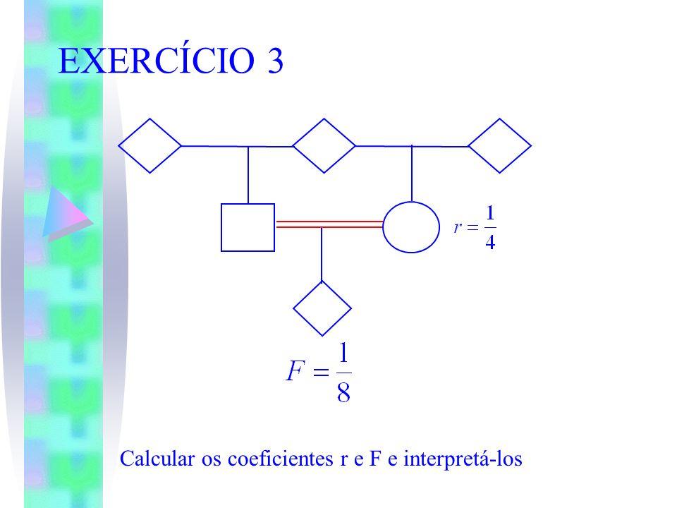 EXERCÍCIO 3 Calcular os coeficientes r e F e interpretá-los