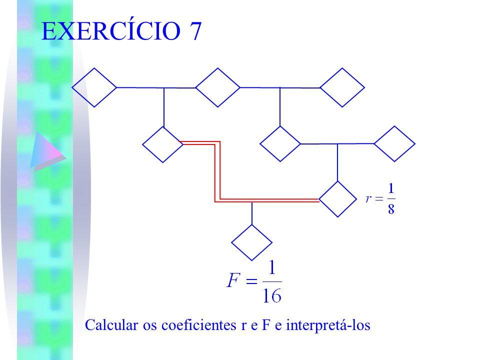 EXERCÍCIO 7 Calcular os coeficientes r e F e interpretá-los