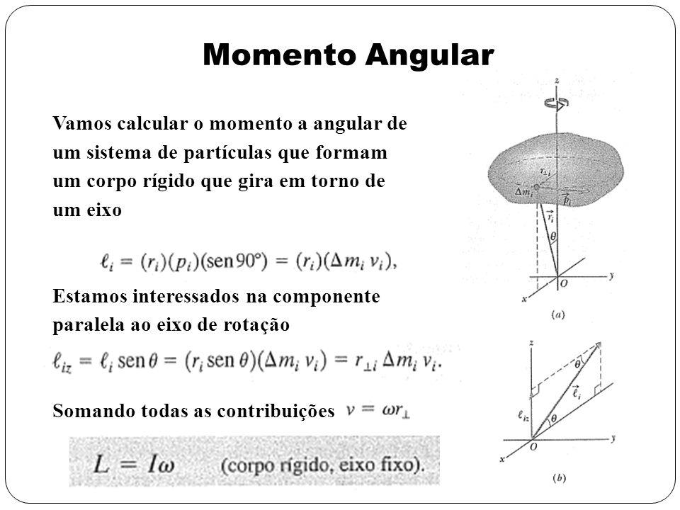 Momento Angular Vamos calcular o momento a angular de