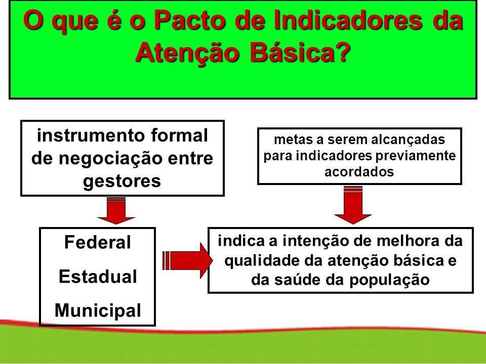 O que é o Pacto de Indicadores da Atenção Básica