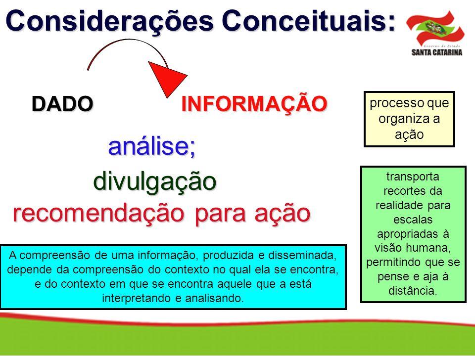 Considerações Conceituais: