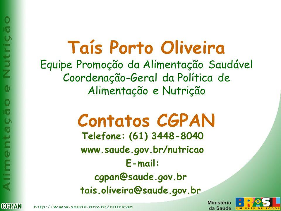 Taís Porto Oliveira Contatos CGPAN