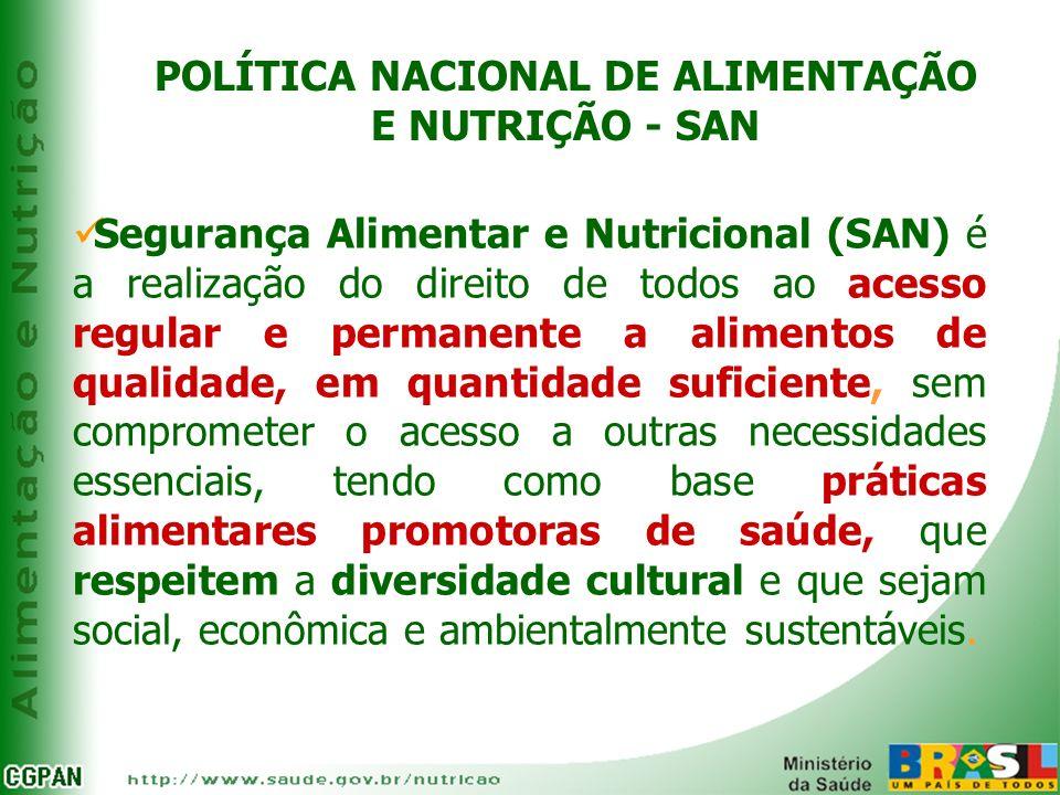 POLÍTICA NACIONAL DE ALIMENTAÇÃO E NUTRIÇÃO - SAN