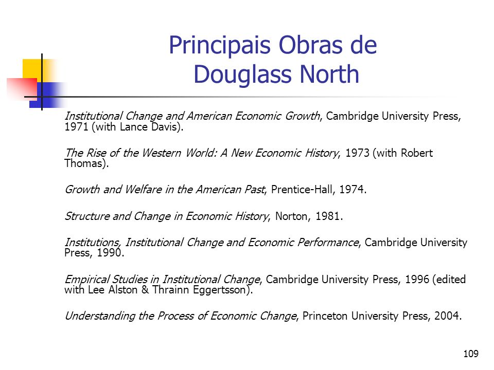 Principais Obras de Douglass North