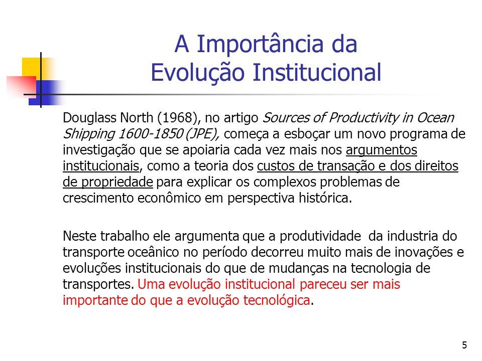 A Importância da Evolução Institucional
