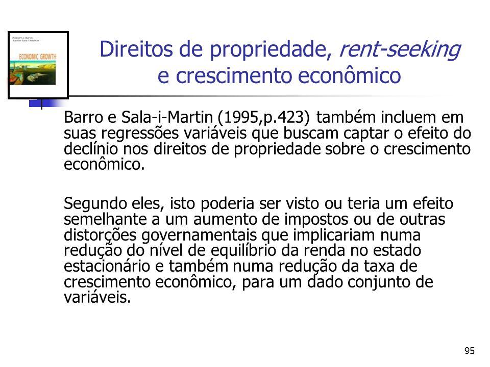 Direitos de propriedade, rent-seeking e crescimento econômico